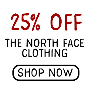 25% off all The North Face clothing