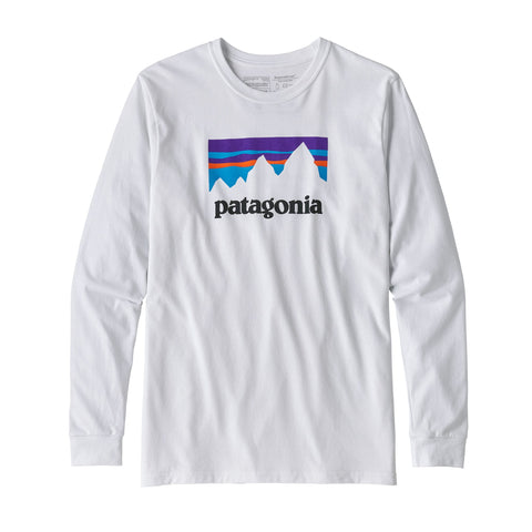 Patagonia Men's Long Sleeve Shop Sticker Responsibili-Tee - OutdoorsInc.com