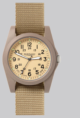 Bertucci Sportsman Vintage Field Watch - Khaki/Defender Khaki - OutdoorsInc.com