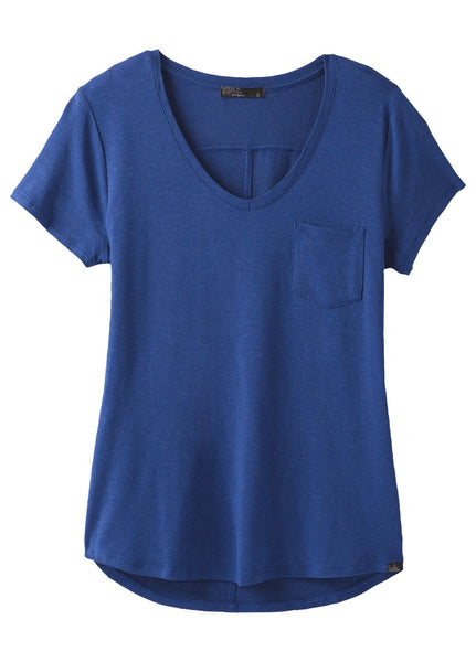 Prana Women's Short Sleeve Foundation V-Neck Shirt