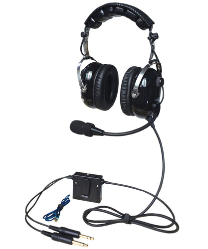 ANR A28 aviation headset pilot headsets great ANR and Hi-Fi speakers for music Free with bag