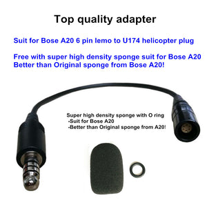 L-H Adapter Bose A20 Lemo 6 pin to helicopter Nexus U174/U adapter