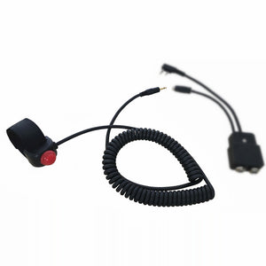 UFQ PTT-499 Push to Talk  PTT Switch for ICOM aviation headset adapter OPC-499