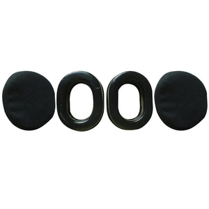 gel ear seals with cotton ear covers for aviation headset
