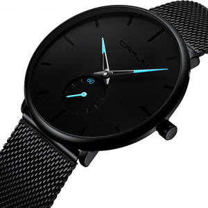 Men Luxury Mesh Steel Waterproof Sport Watch