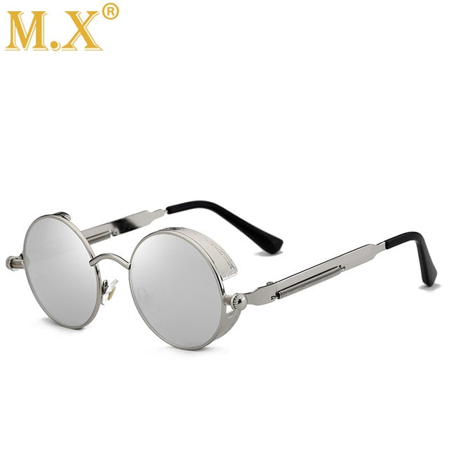 Metal Steampunk Sunglasses Round