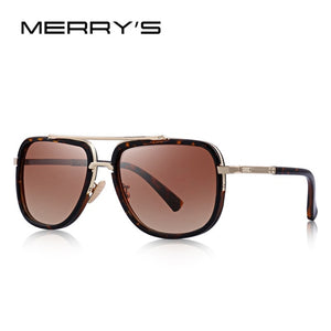 MERRY's Metal Square Sunglasses UV400 Protection S'662