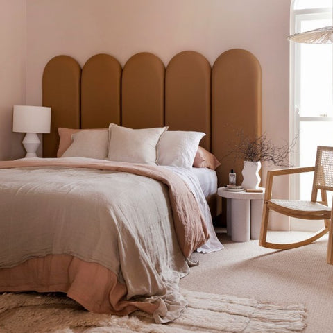 Panelled Bed Head by Three Birds Renovations