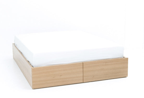 Box Bed Base with Drawers | Timber