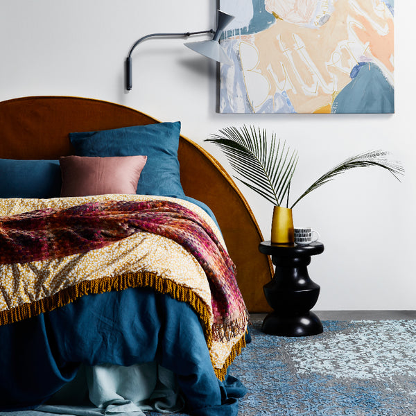 Velvet Slipcover for Half Moon Bedhead