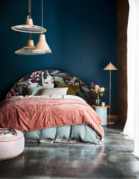 Upholstered Bedhead Round | Limited Edition by Kimmy Hogan - Gathered IV