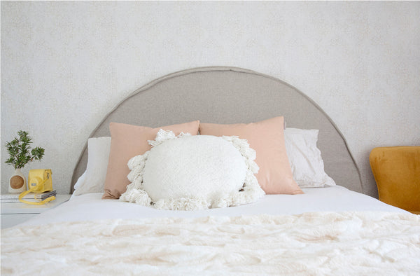 Kids Round Bedhead with Slipcover | The Ivy