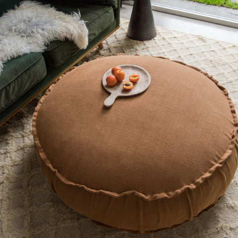 Large Floor Cushion in Linen by Create Estate