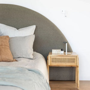 Round bedhead, round headboard, semi circle half moon by create estate