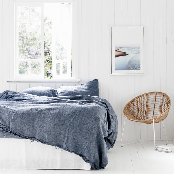 100% Pure Linen Quilt Cover