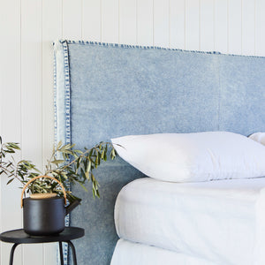 Denim Slipcover for Old Faithful Bedhead