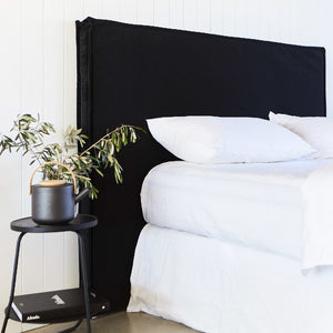 Black Velvet Bedhead Made in Australia by Create Estate