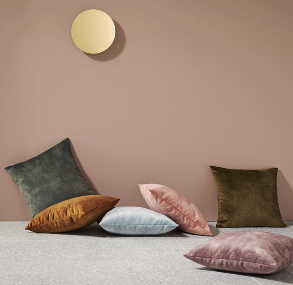 Soft touch velvet cushion covers by Create Estate