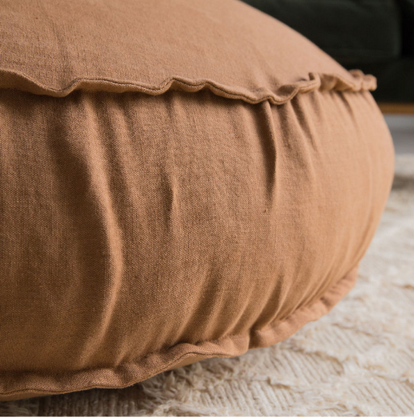 Large Floor Cushions | Linen