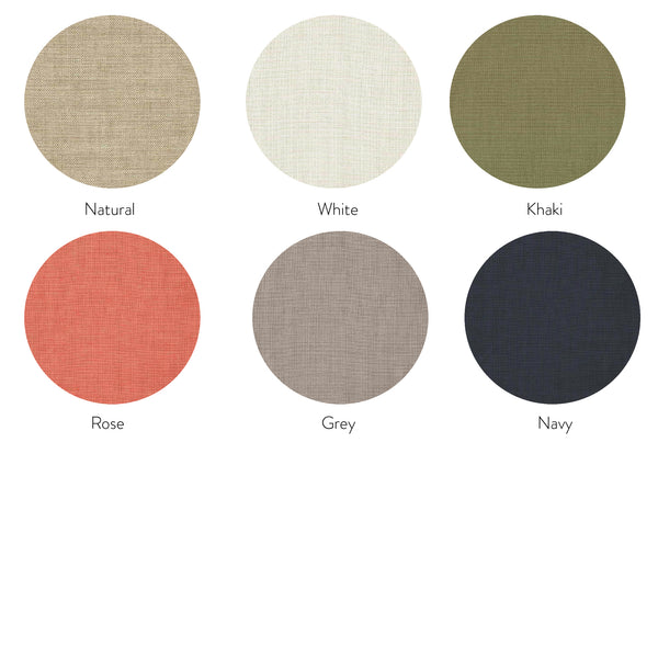 Linen Bedhead Fabric Colour Options for Upholstered Bed Heads Made in Australia by Create Estate