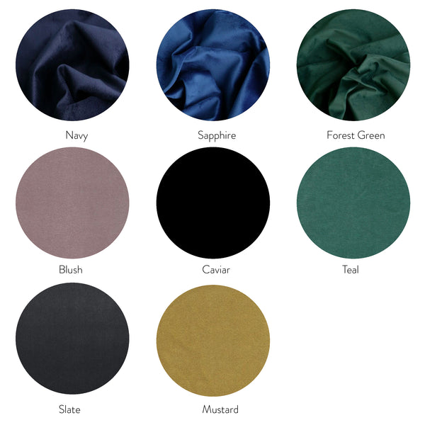Velvet Bedhead Fabric Colours to Choose From Each Bed Head Custom Made by Create Estate