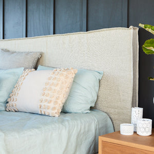 Linen Bedhead with Removable Slipcover Made in Australia by Create Estate