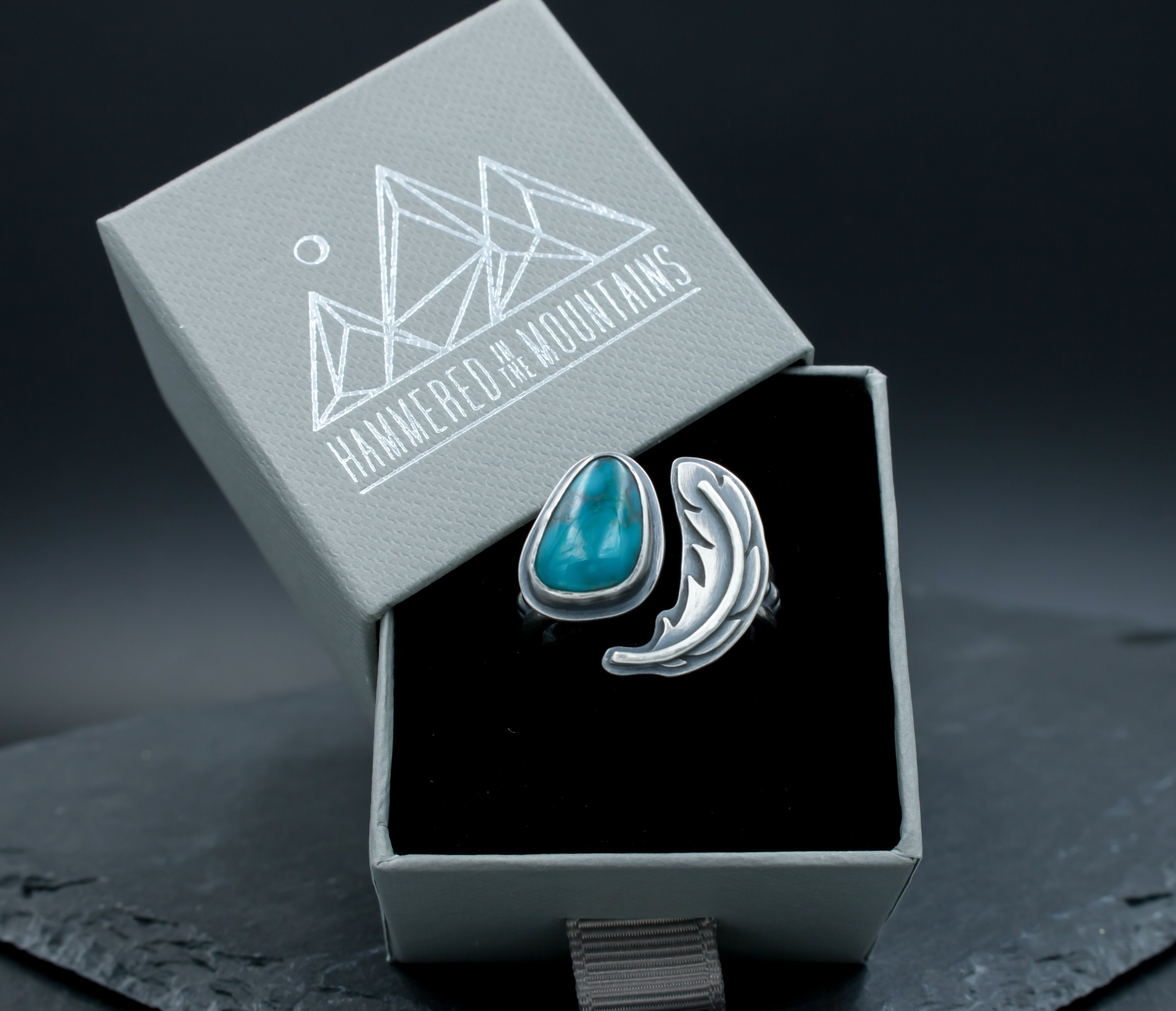 Feather Turquoise Ring