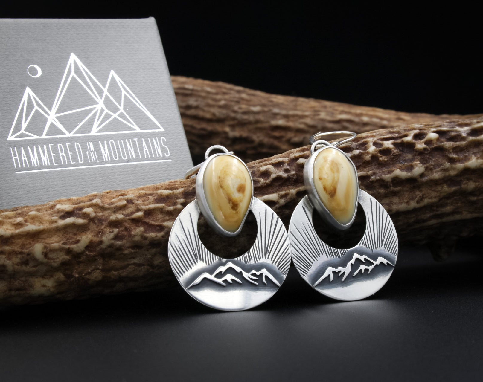 Elk Ivory Jewelry, Elk Ivory Earrings, Custom Elk Ivory