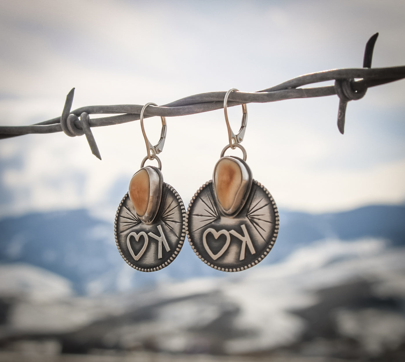 Elk Ivory Earrings, elk ivory jewelry