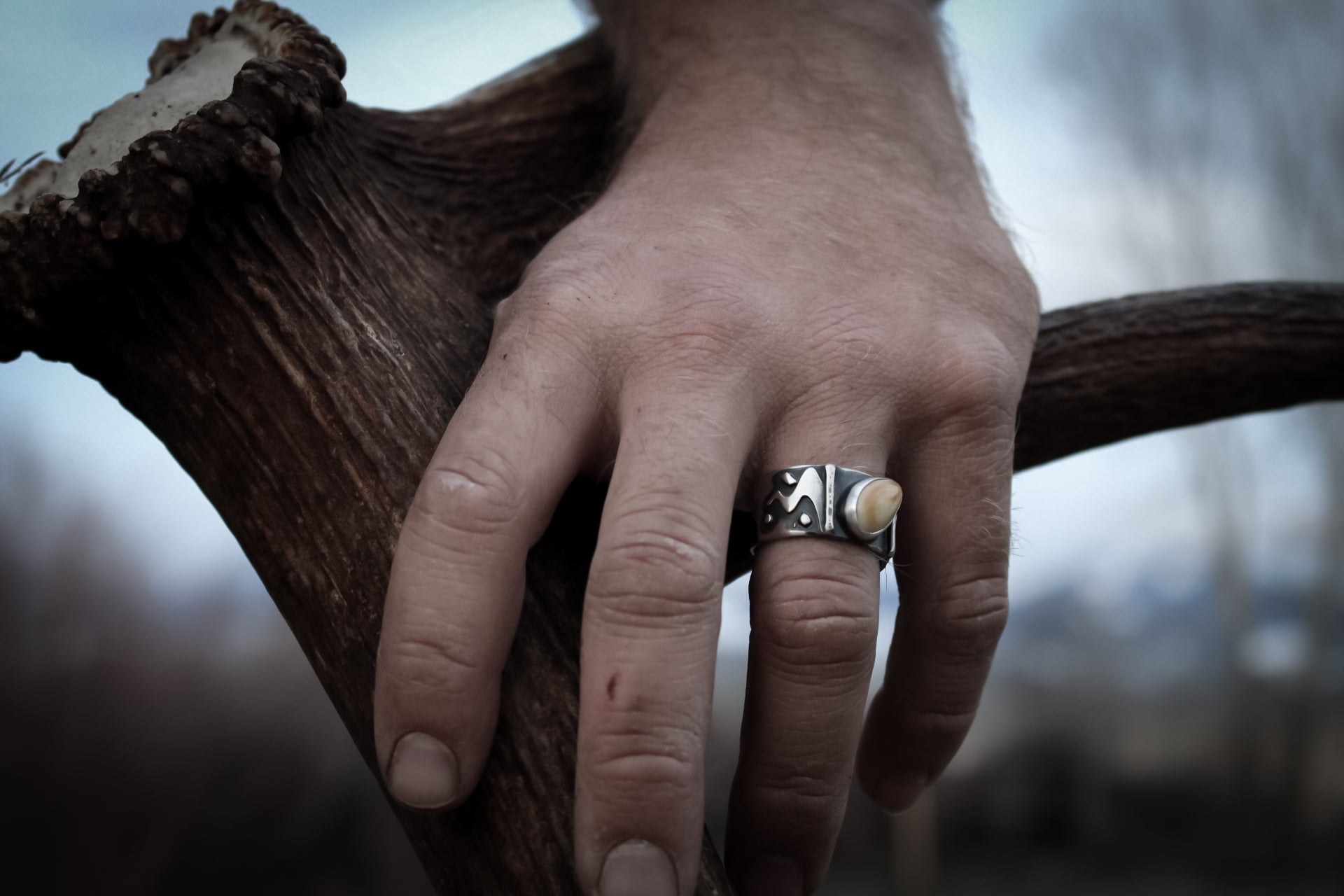 Men's Elk Ivory ring
