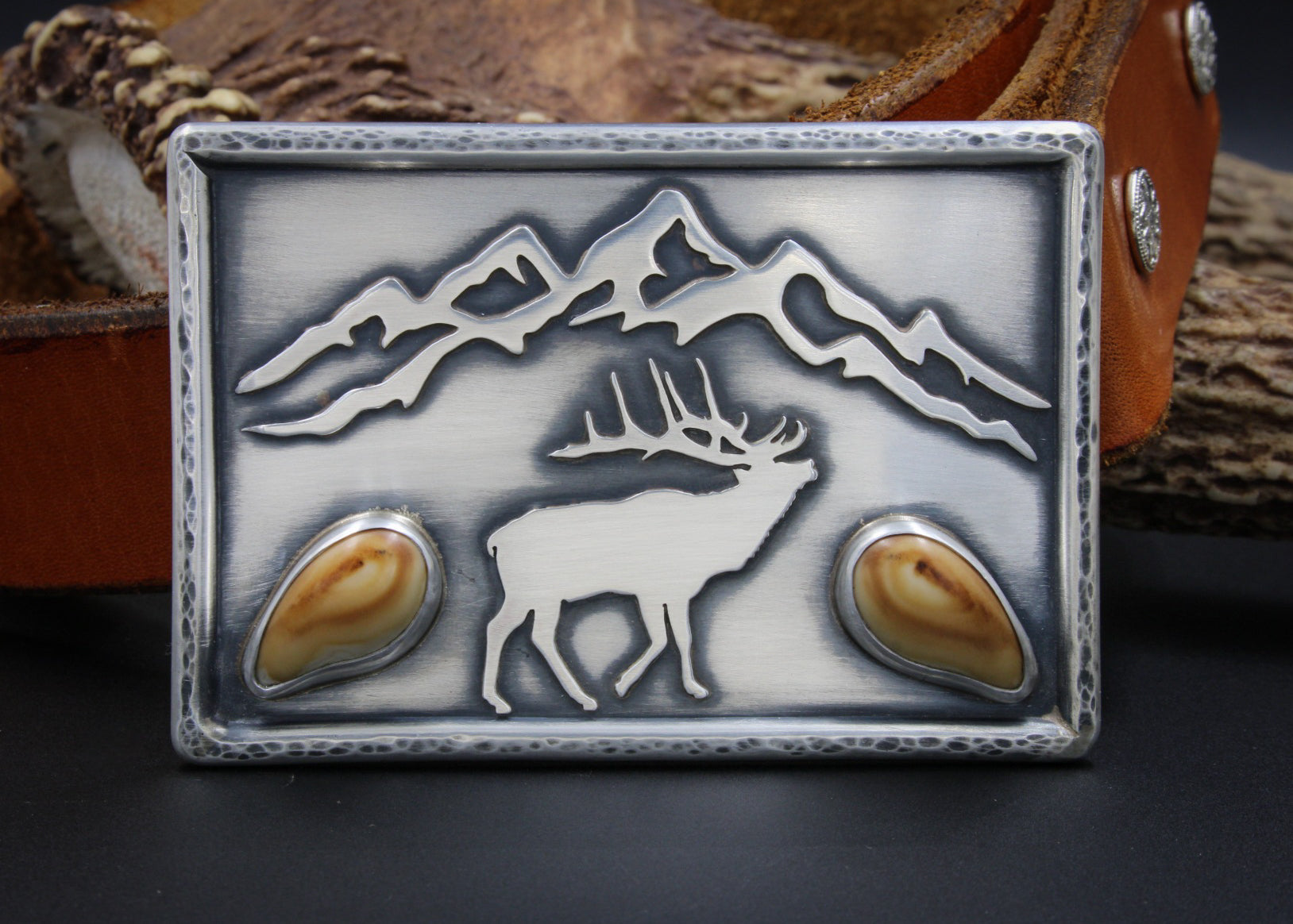 Elk Ivory Belt Buckle