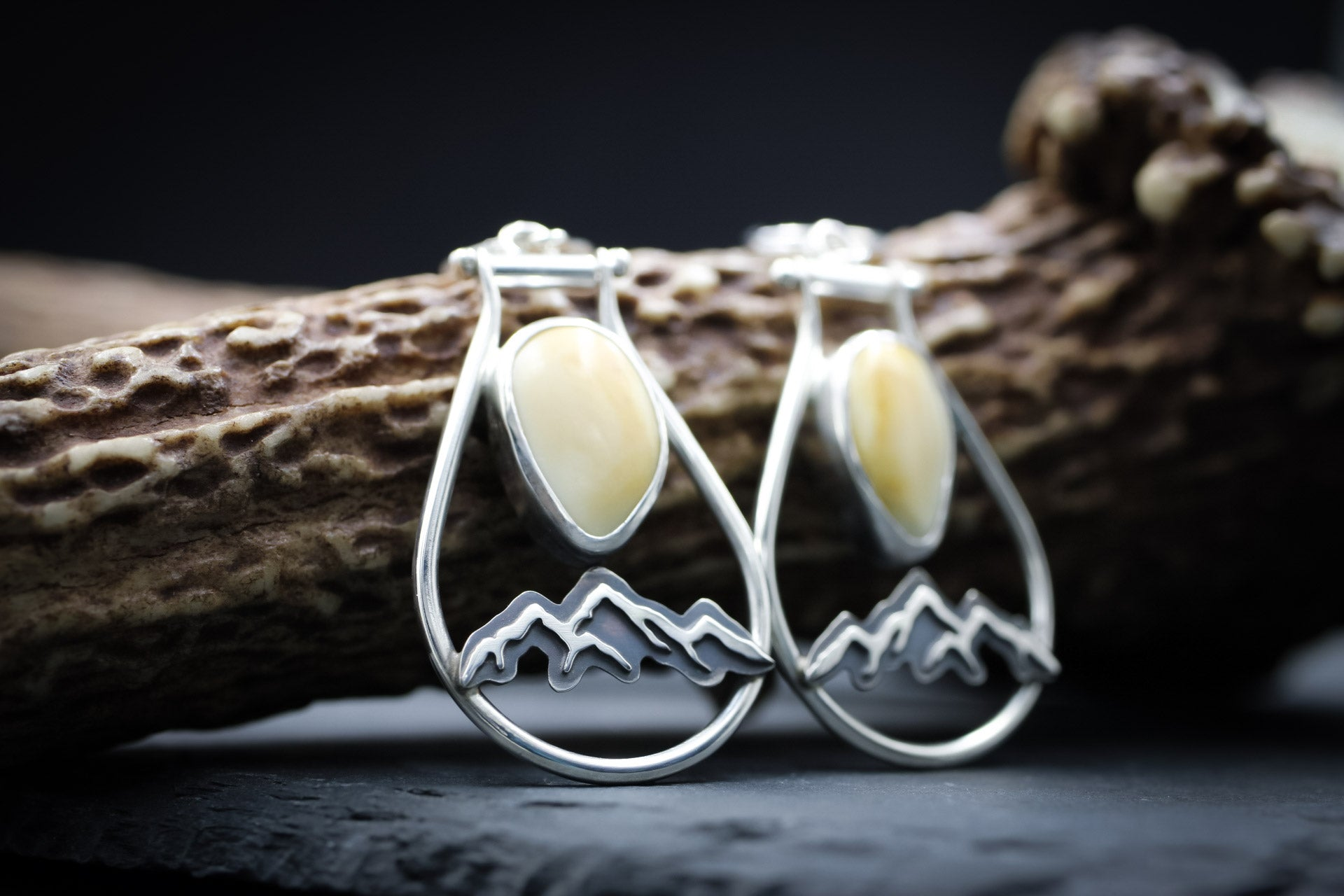 Elk Ivory Earrings