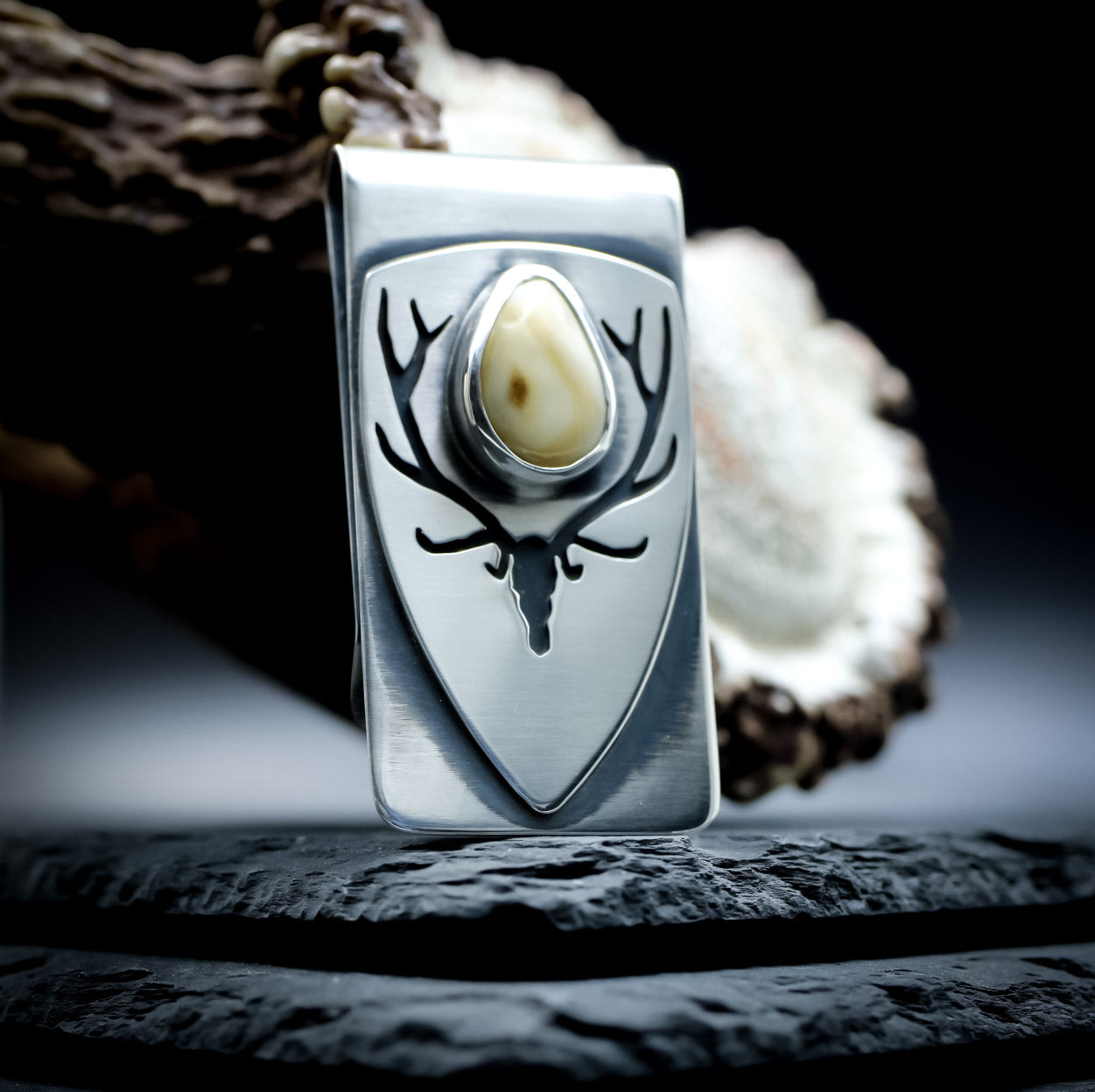 Elk ivory money clip