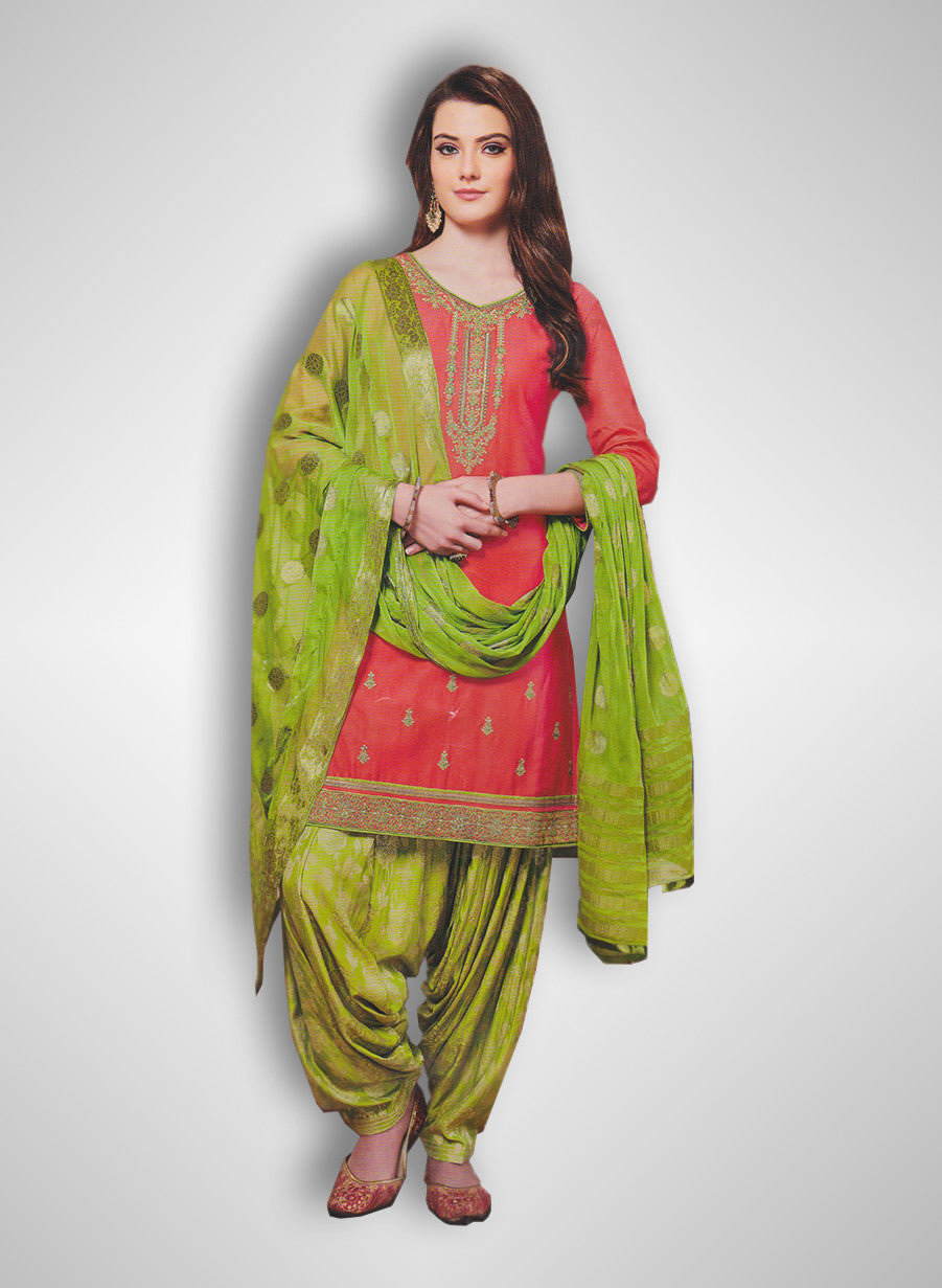 2fef7946d5 Buy Patiyala Complete Readymade Dress Full Stitched Scarlet and Green (40%  OFF) at Rs.1800 only in India