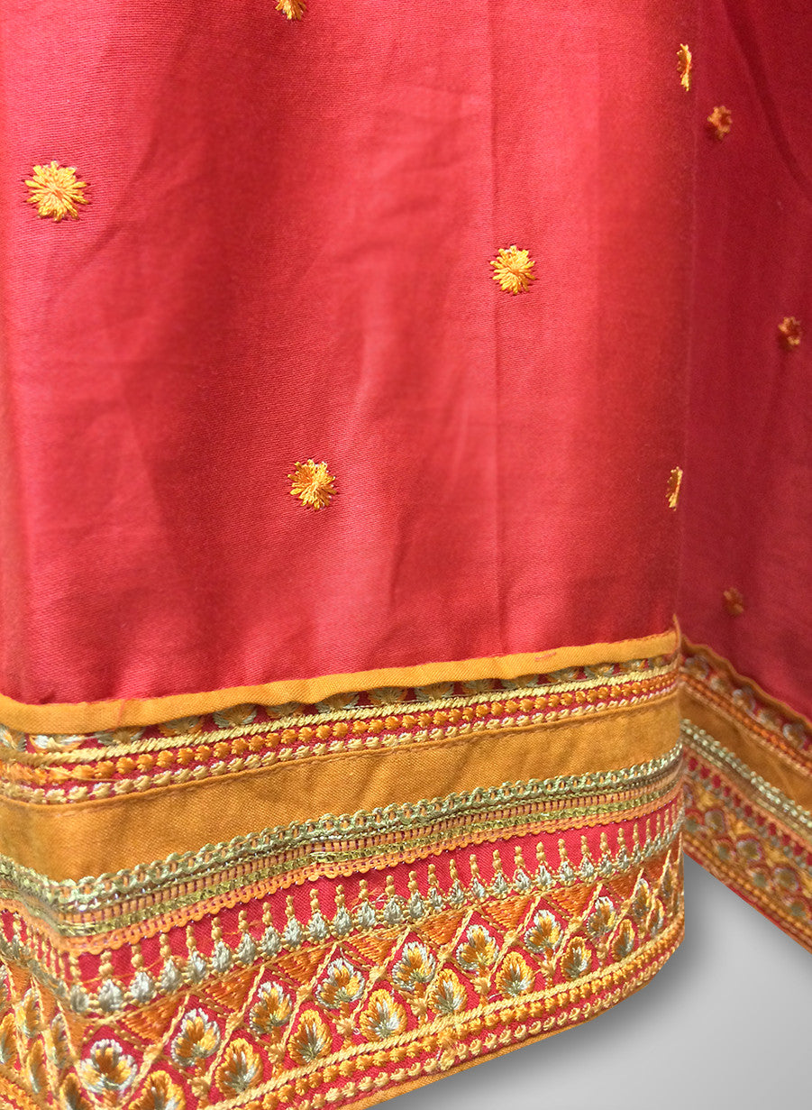 163e1303f6 Buy Patiyala Complete Readymade Dress Full Stitched Red and Orange ...