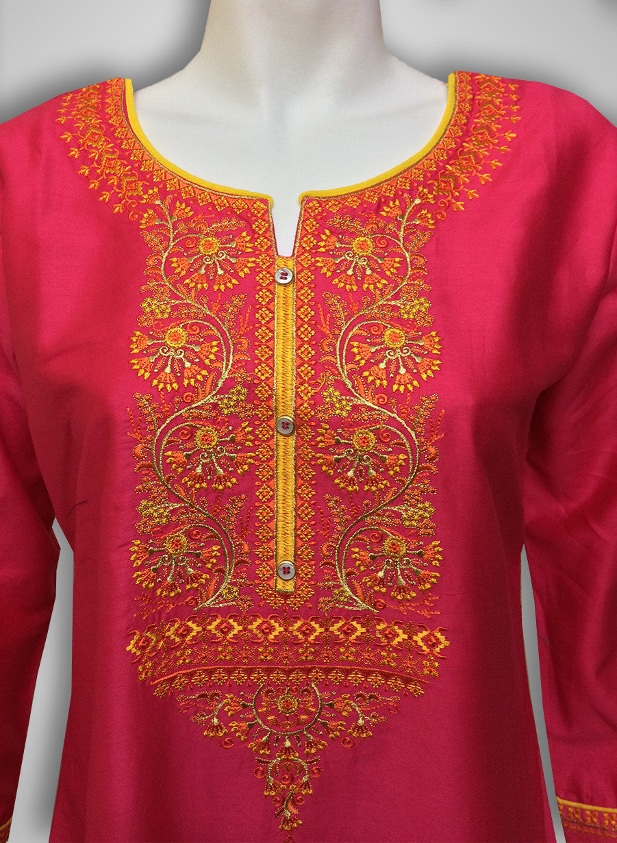 6f173dbd66 Buy Patiyala Complete Readymade Dress Full Stitched Pink and Yellow ...