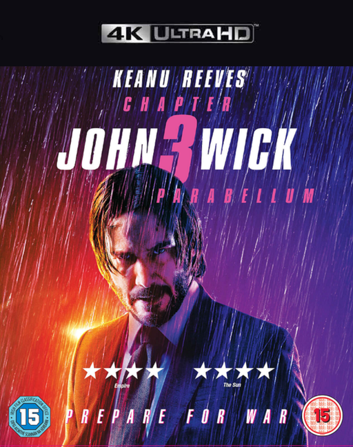 John Wick Chapter 3 Parabellum VUDU 4K or iTunes 4K