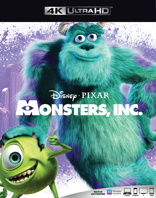 Monsters Inc MA 4K VUDU 4K FandangoNow 4K
