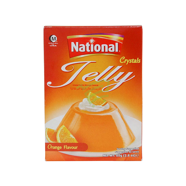 National Jelly Crystal Orange Flavour 80G Al-Noor.de Al-Noor.de
