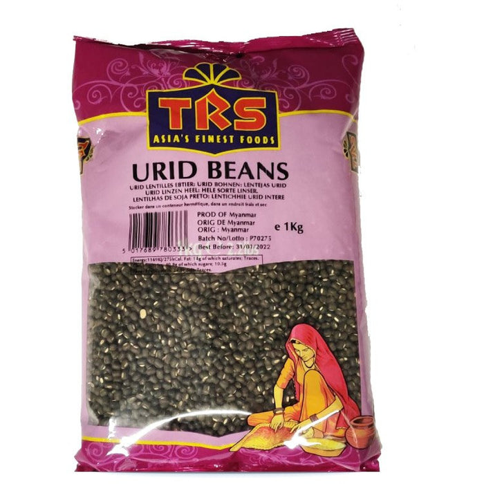 URID Beans Whole 500g ( Maash Sabat Schwarz)
