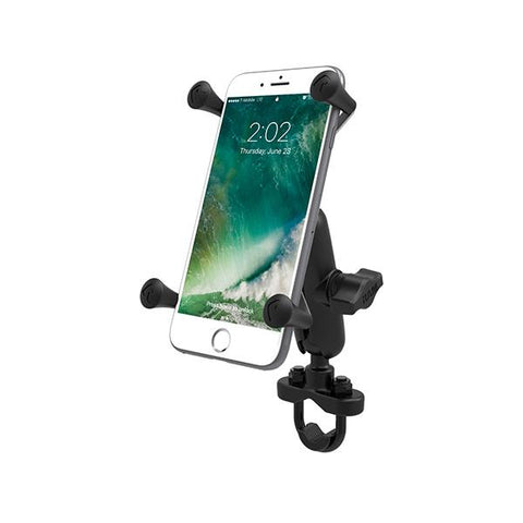 RAM Handlebar U-Bolt Mount with Universal RAM X-Grip Large Phone/Phablet Cradle (RAM-B-149Z-UN10U) - RAM Mount Indonesia