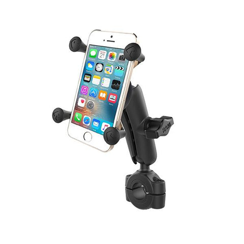 "RAM Torque Handlebar with 1"" Ball, Medium Arm and RAM® X-Grip® for Phones (RAM-B-408-75-1-UN7U) - RAM Mounts IDstralia - Mounts ID"