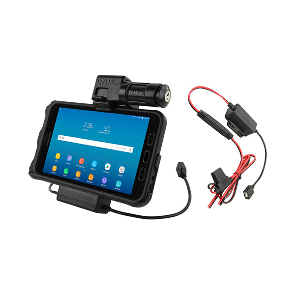 RAM® Key-Locking Power & Data Cradle for Samsung Tab Active2 (RAM-HOL-SAM7PKL2-HARU)-Image 1