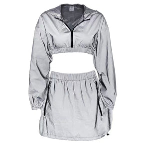 Reflective Zip Detailed Co-ord