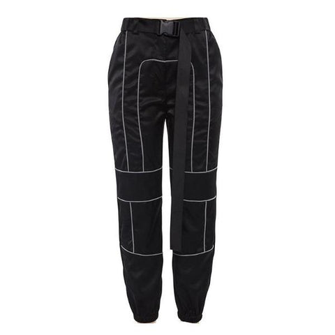 Black Reflective Off-duty Buckle Belt Jogger