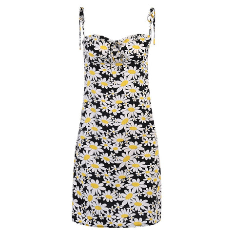Paxie Daisy Tie Up Mini Dress