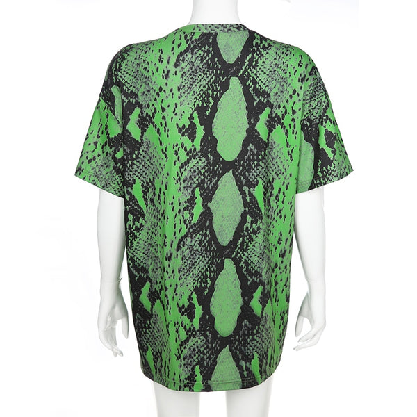 Neon Slime Lime Over Size T Shirt