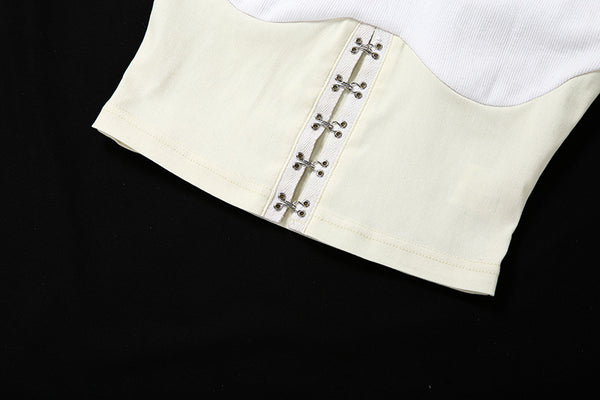 White Hook & Eye Corset Top