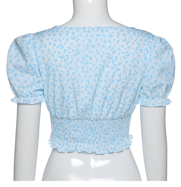 Frankie Shirred Crop Top