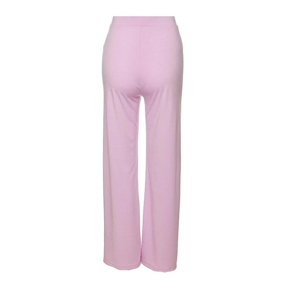 Lilac Flare High Waist Trousers